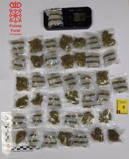 Droga incautada por la Policía Foral
