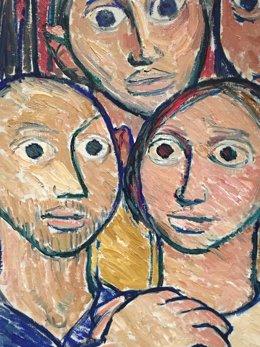 Pintura de Isaac Díaz Pardo expuesta en Santiago