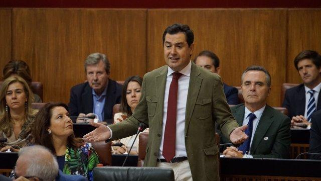 Juanma Moreno, hoy en el Pleno