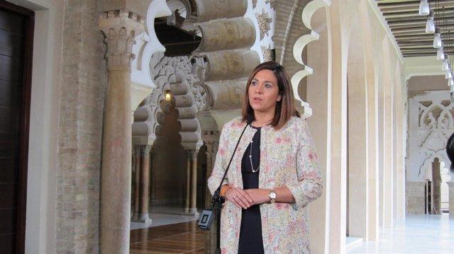 Susana Gaspar, este jueves, en Zaragoza.