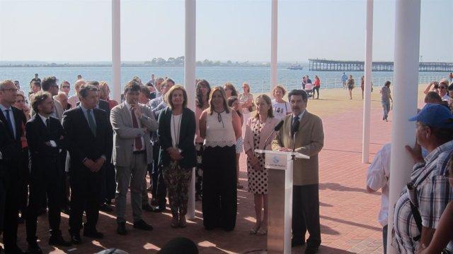 Inauguración oficial del Paseo de la Ría de Huelva.