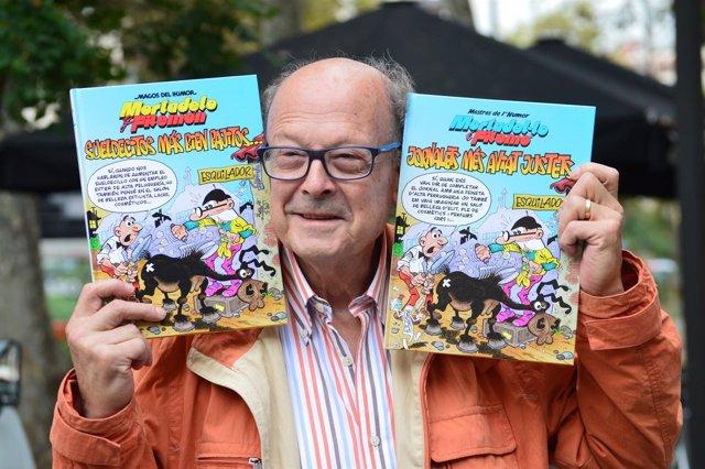 Francisco Ibáñez con su nuevo cómic