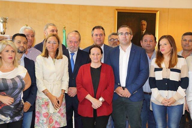 Reunión de alcaldes por la N-IV.
