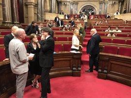 Carles Puigdemont ve en el referéndum la mejor respuesta de apoyo a Forcadell y Homs