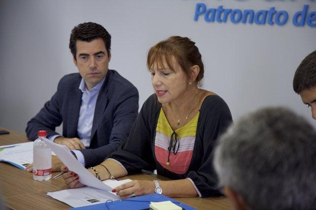 La consejera del Cabildo Inés Giménez en la Mesa de Conectividad de Turismo