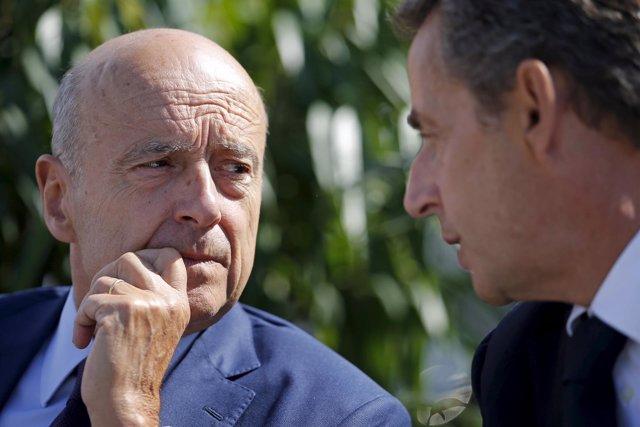 Alain Juppé y  Sarkozy