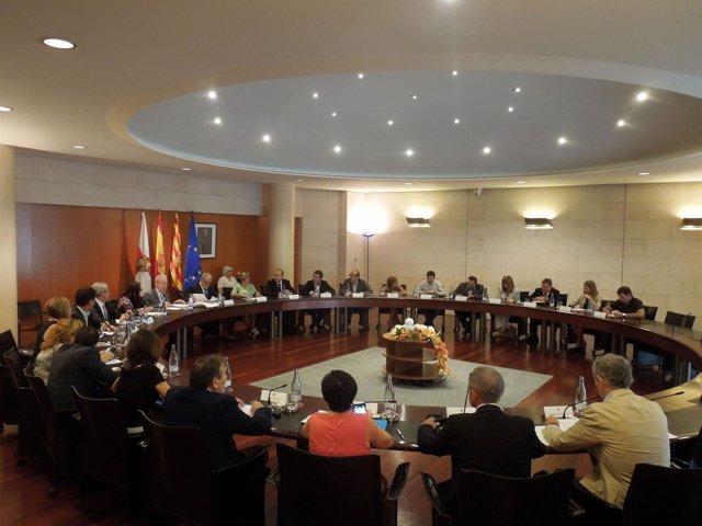 Pleno de la Diputación Provincial de Huesca (DPH)