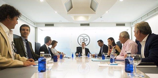 Mariano Rajoy preside la reunión del Comité de Dirección del PP