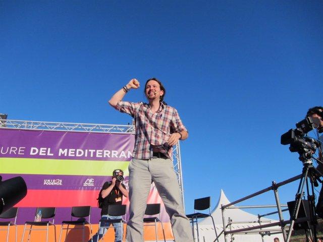Mitin de Pablo Iglesias y Unidos Podemos Mes en Mallorca