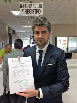 Alberto Delgado, representante de los quioscos de la Plaza de España de Mérida