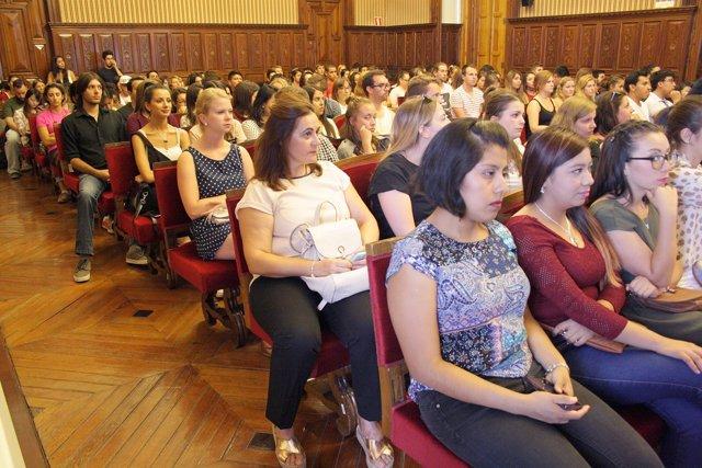 Alumnos extranjeros que estudiarán este curso en la Universidad de Jaén.