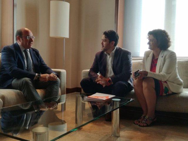 Pedro Antonio Sánchez, Miguel Sánchez y María Dolores Pagán