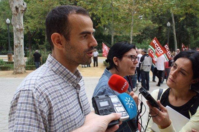 Miguel Ángel Bustamante, hoy ante los medios