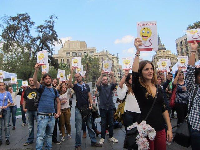 Celebración del Día Mundial de la Salud Mental en Barcelona