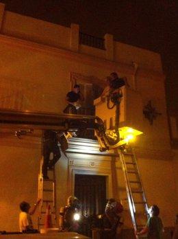 Incendio en una vivienda de La Puebla del Río (Sevilla)