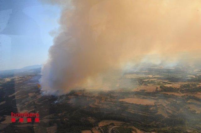 Incendio En Sant Feliu Sasserra