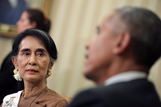 Obama recibe en la Casa Blanca a la dirigente birmana Suu Kyi