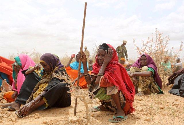 Mujeres desplazadas internas en Somalia