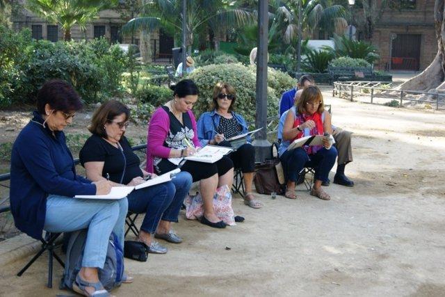 Actividad de la Semana de la Arquitectura de Sevilla