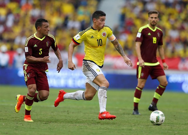 James Rodríguez con Colombia