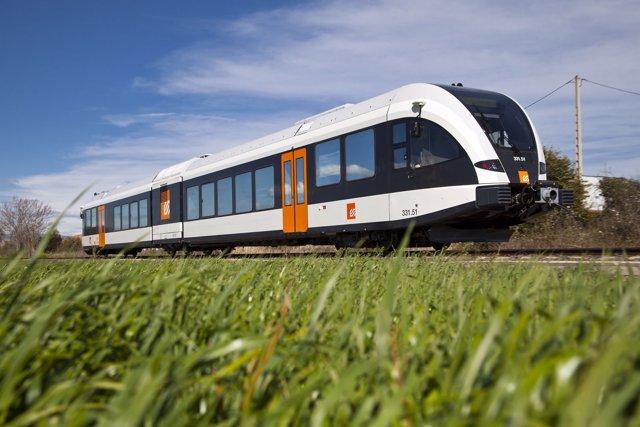 Tren de FGC de la línea Lleida-La Pobla de Segur