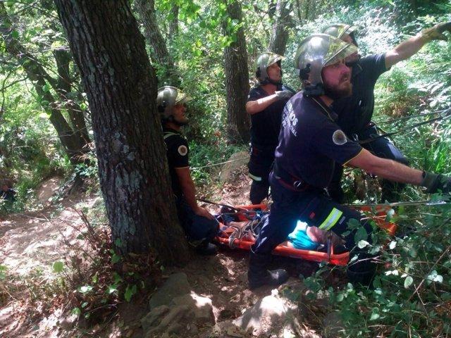 Rescate de una senderista en Algeciras