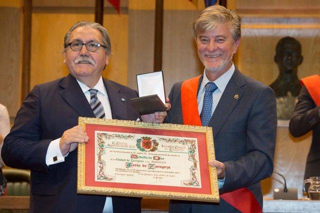 Manuel Teruel, presidente de la Feria, junto al alcalde