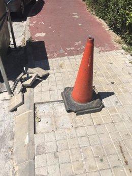 El Ayuntamiento de Fraga ha cambiado las baldosas de parte de la ciudad