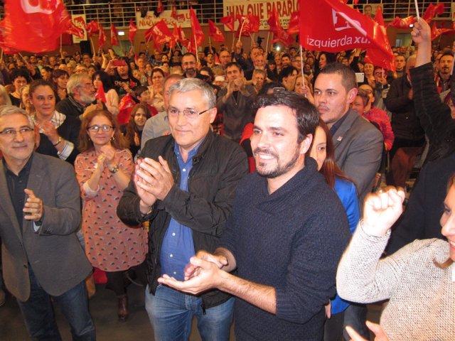 Alberto Garzón, Manuel González Orviz, y Gaspar Llamazares