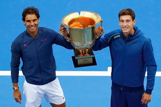 Pablo Carreño Rafa Nadal título dobles Pekín