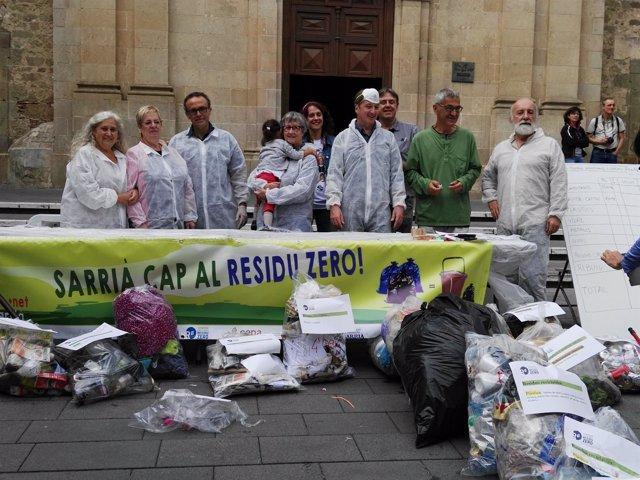 Recogida de residuos en Sarrià (Barcelona)