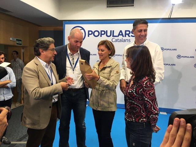 Enric Millo, Dolores de Cospedal, Andrea Levy y Xavier García Albiol (PP)