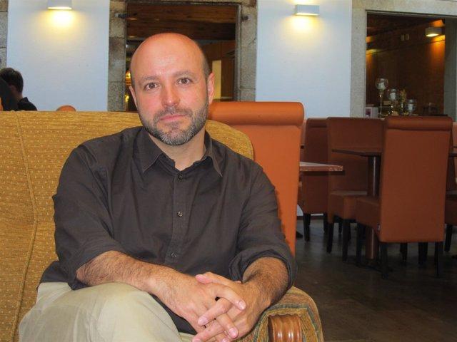 El candidato de En Marea a la Presidencia de la Xunta, Luís Villares
