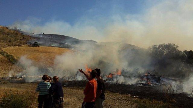 Incendio en Murillo el Cuende.