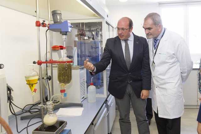 Pedro Antonio Sánchez, en la empresa farmacéutica Laboratorios Ferrer