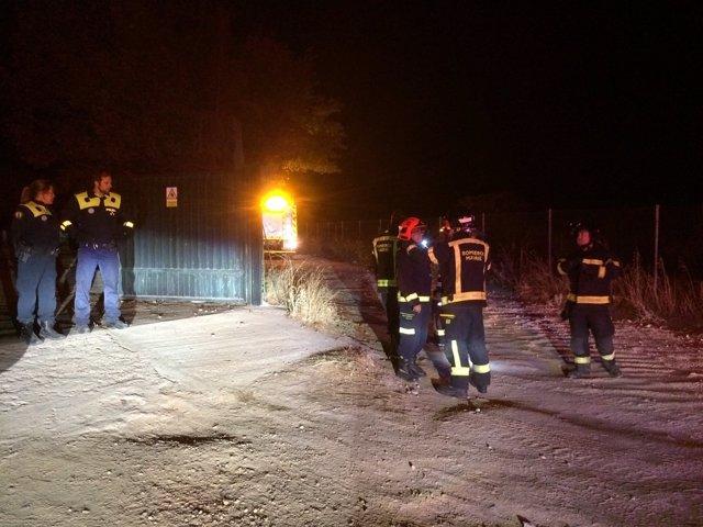 Incendio en una vivienda prefabricada de madera