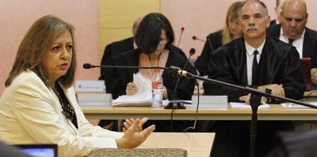 La exdirectora del Patronato de la Alhambra Mar Villafranca declara en el juicio
