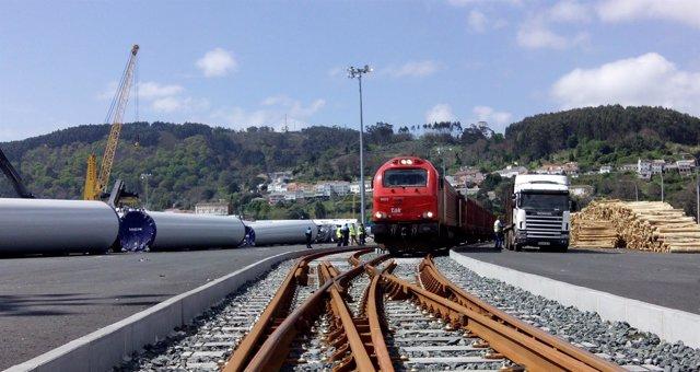 Movimiento de mercancías en los puertos de Ferrol y San Cibrao