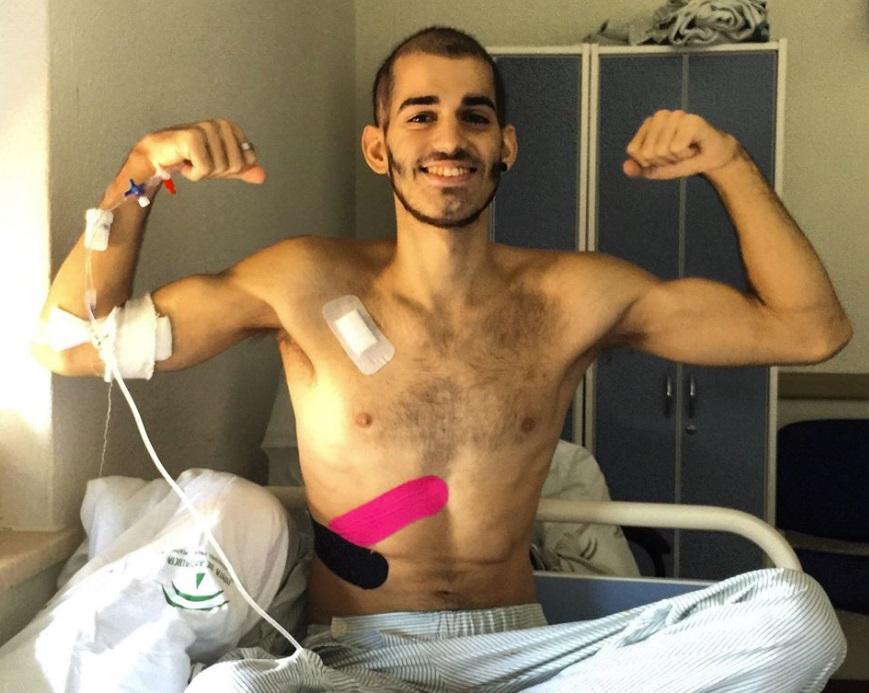 El joven marbellí con leucemia Pablo Ráez
