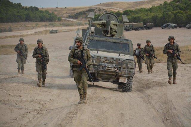Uno de los ejercicios de la Brimz X preparatorios para la misión en Líbano