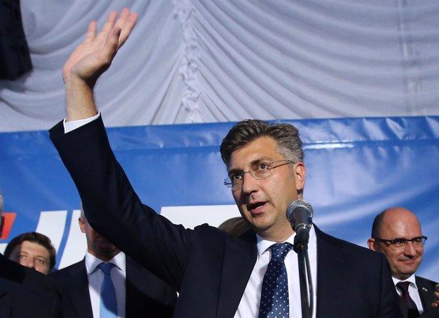 Andrej Plenković, líder de la Unión Democrática Croata (HDZ).