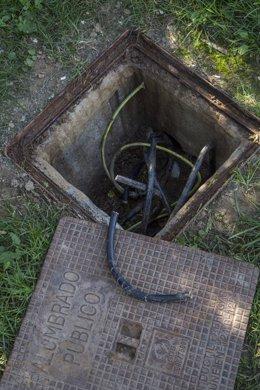 Robo de cable en el alumbrado público