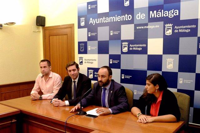 Mario Cortés, Luis Verde, Dolores Martínez y Carlos Bertrán en el acto.
