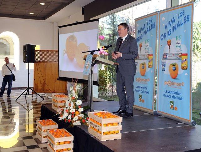Puig asiste a la presentación de la campaña del Kaki Ribera del Xúquer
