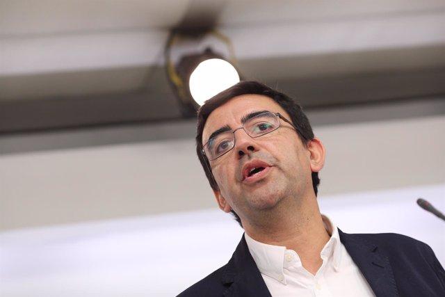 Mario Jiménez, portavoz de la gestoral del PSOE