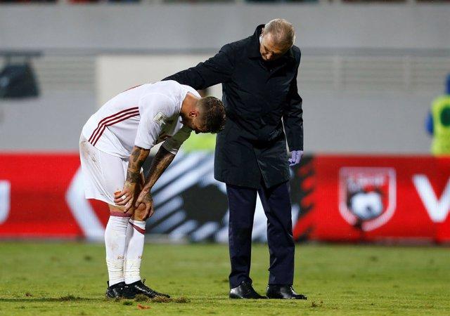 Sergio Ramos se lesiona con España