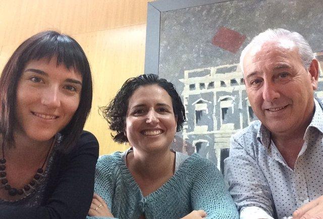 Roser Grau, Laura Garcia  y Ramon Lopez