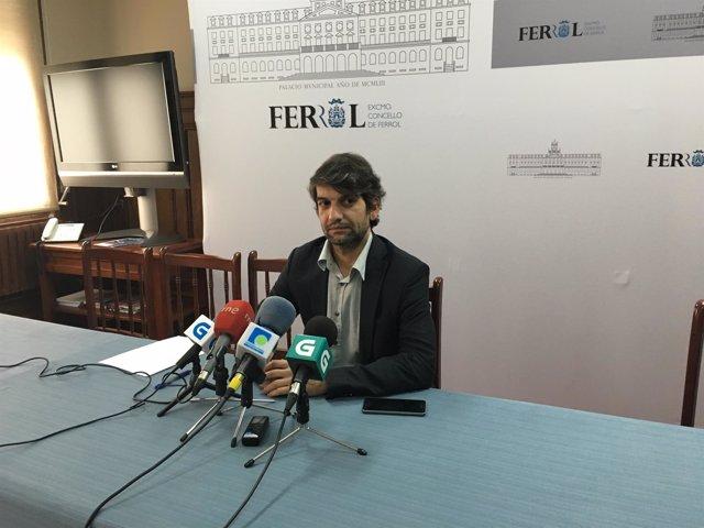 Alcalde de Ferrol Jorge Suárez