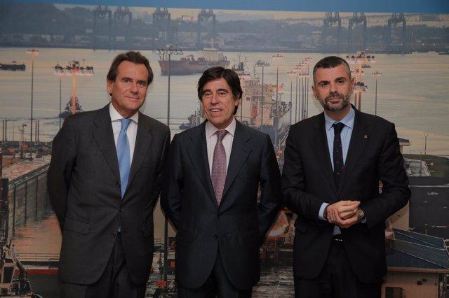 S.Cambra, M.Manriqye y S.Vila en el World Trade Center