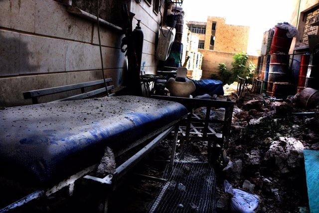Destrucción de un hospital apoyado por MSF en Alepo